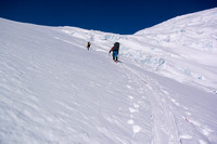 Working our way up the steep (but wide!) ramp to the main icefield.