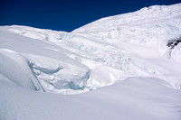 Crevasses off the ramp to the Columbia Icefield.