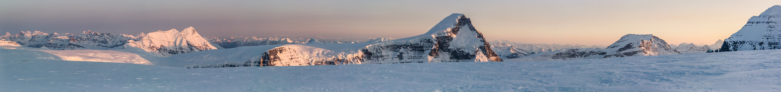 Evening lighting on the Columbia Icefield.