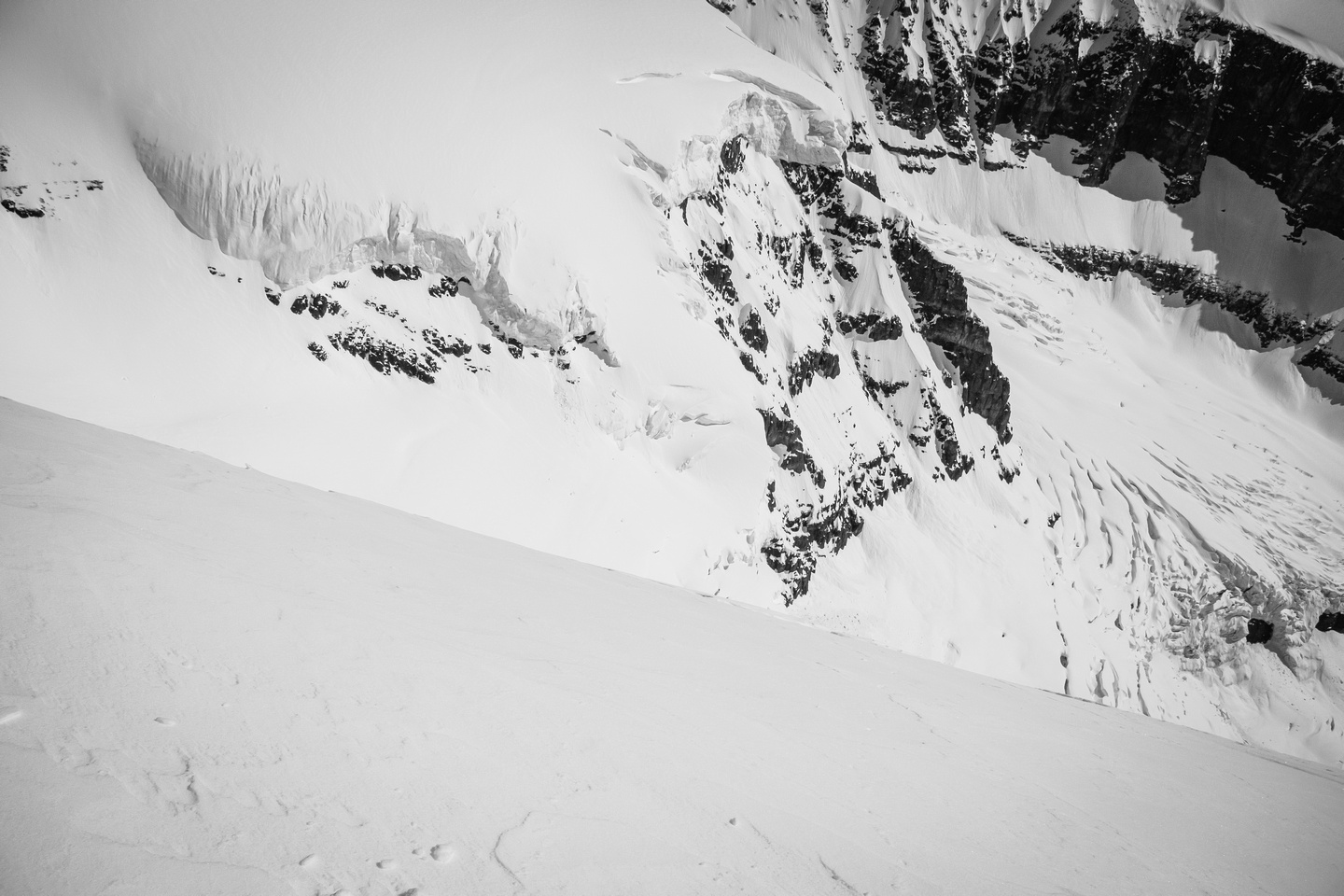 Believe it or not, people ski down this face! Ok - one person did it anyway... (Trevor Sexsmith).