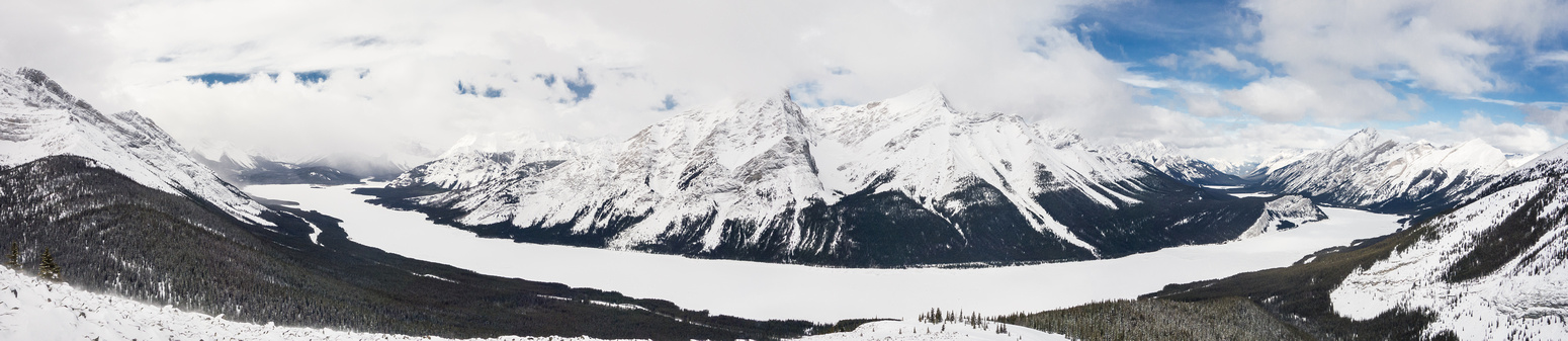 Looking back at Spray Lakes and Nestor and Old Goat.