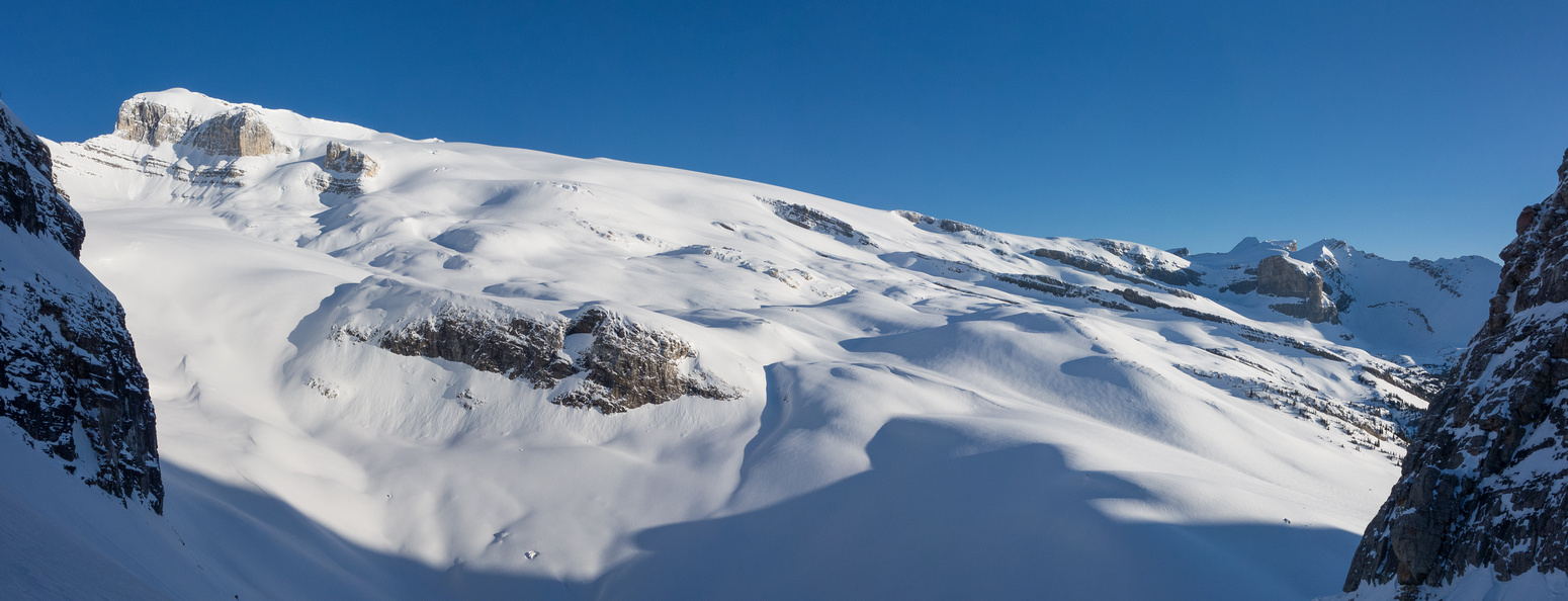 This is what we came for!! The incredible Wilson ice field with almost the whole route visible.