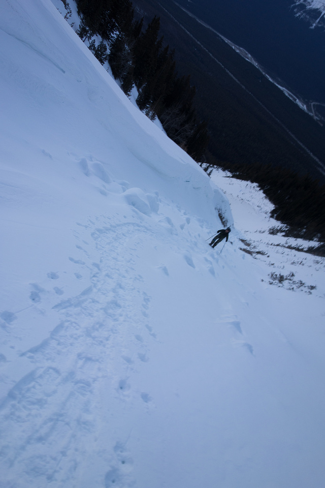 The ascent gully on Mount Wilson.