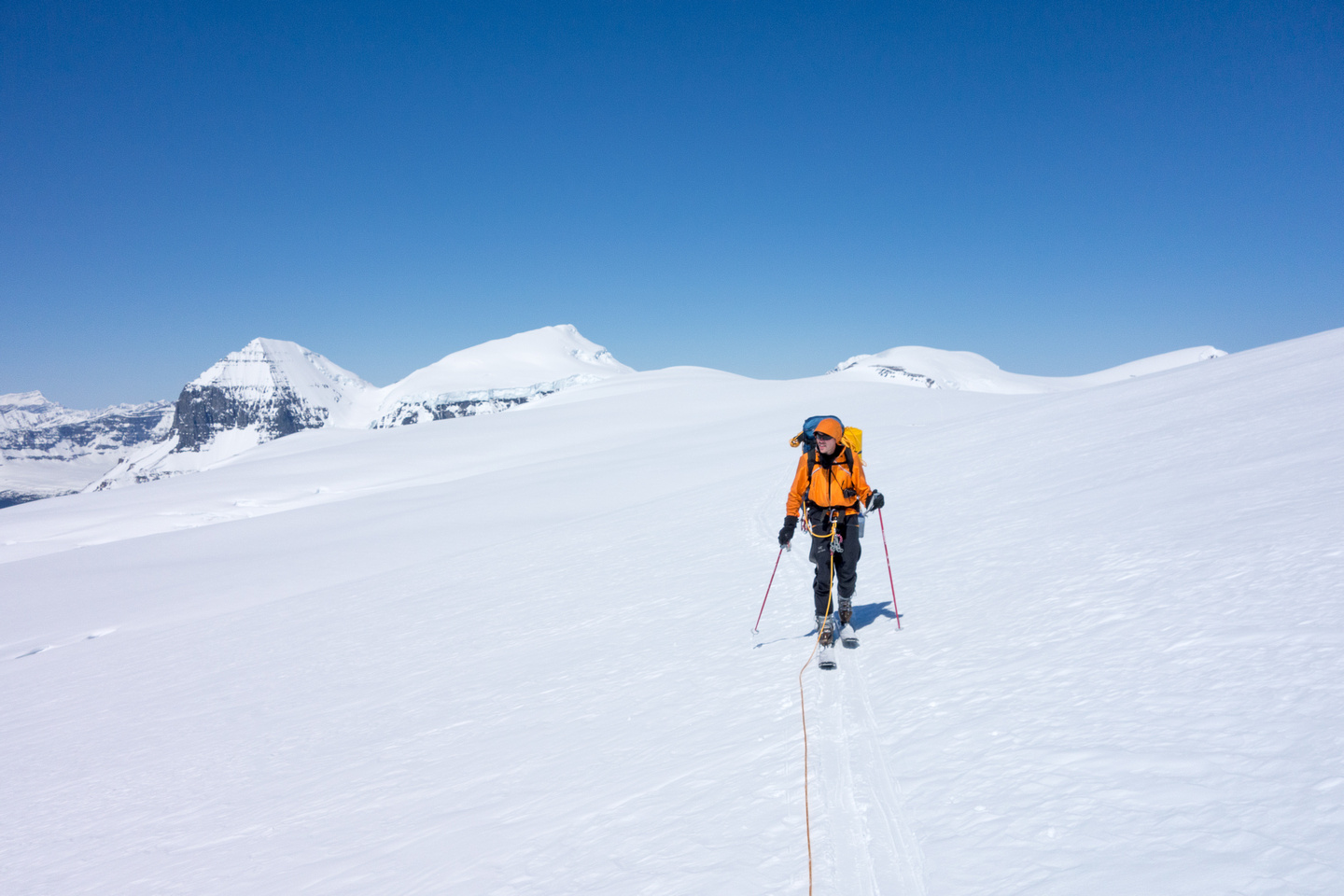 Another incredible day on the ice fields. JW with the Twins and Stuts behind him.