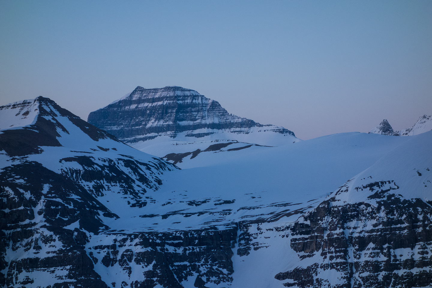 Mount Saskatchewan from Parker Ridge.