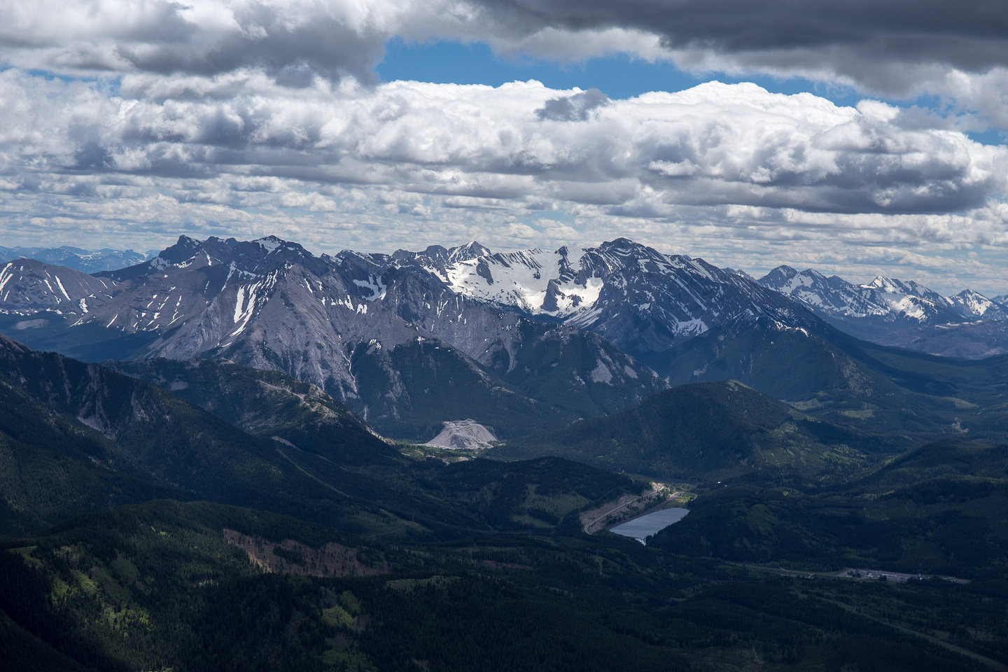 Looking over to Sentry Mountain and McLaren, Parrish and Chinook Peaks.