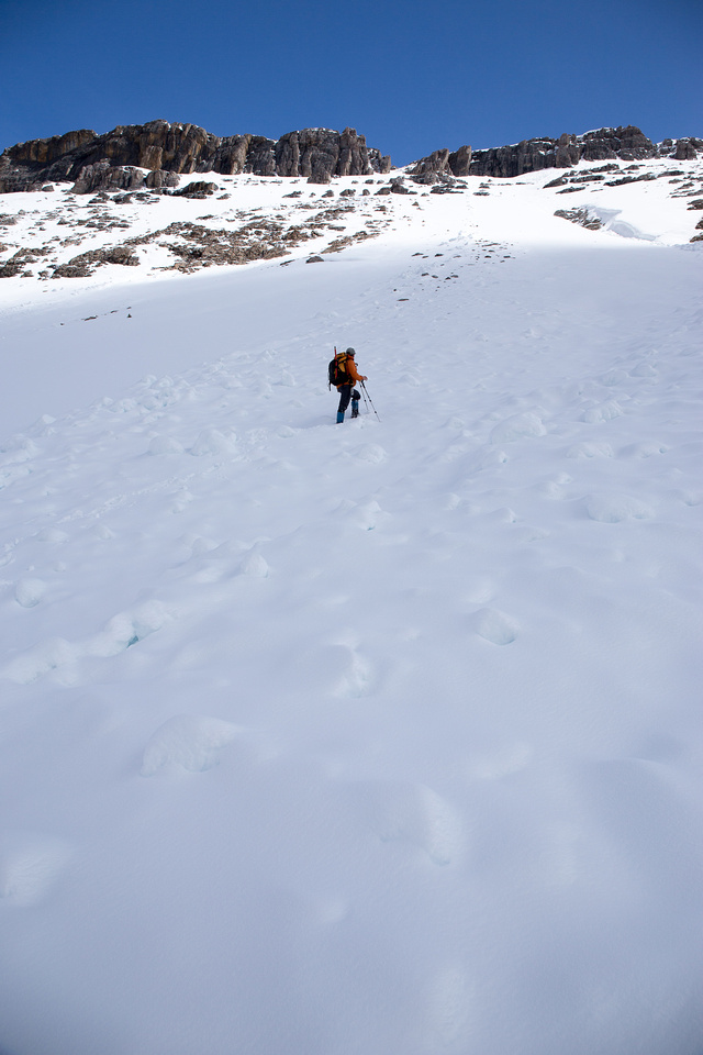 The slope was steep but not crazy steep.