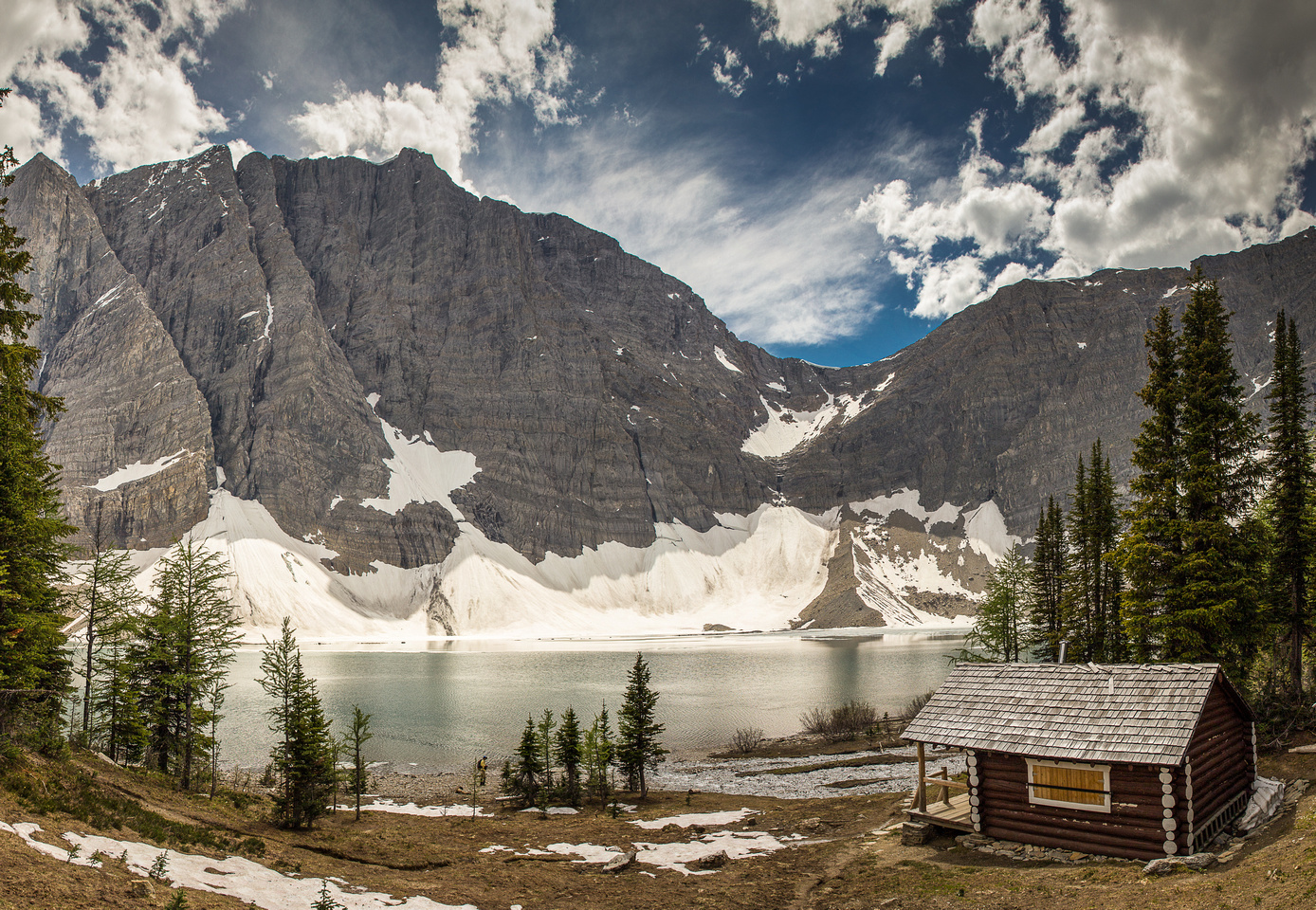 Floe Lake is a wonderful place to sit for a while. Or camp!
