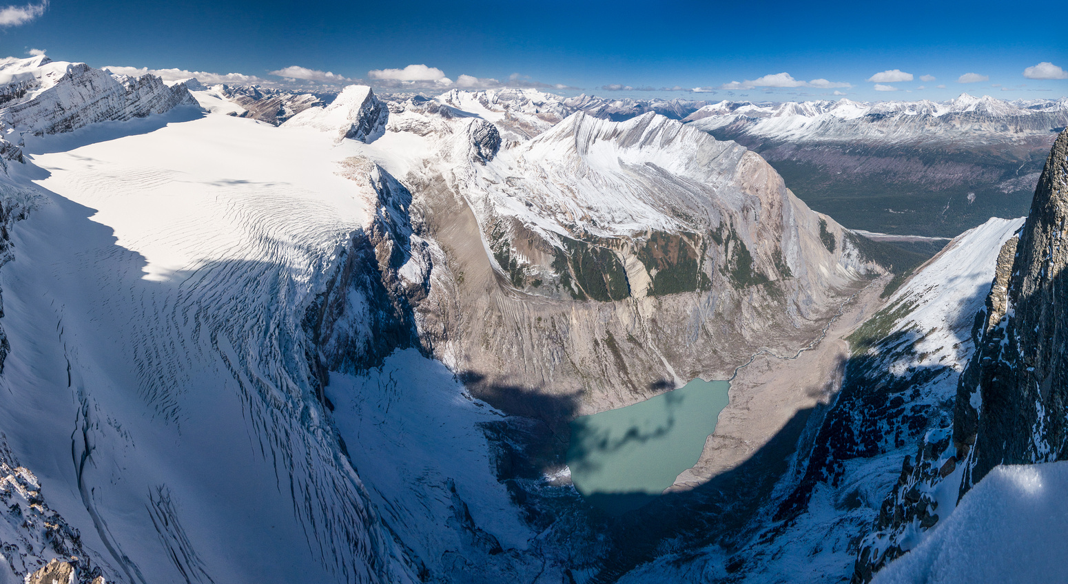 Another view of the impressive icefall from the Mural Glacier.