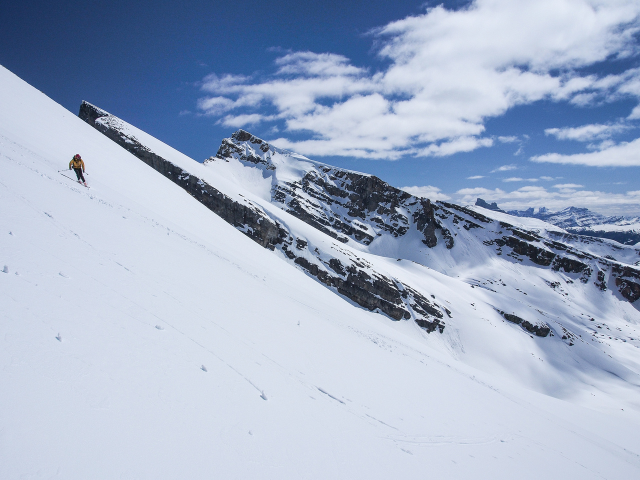 Descending Quartzite Peak.