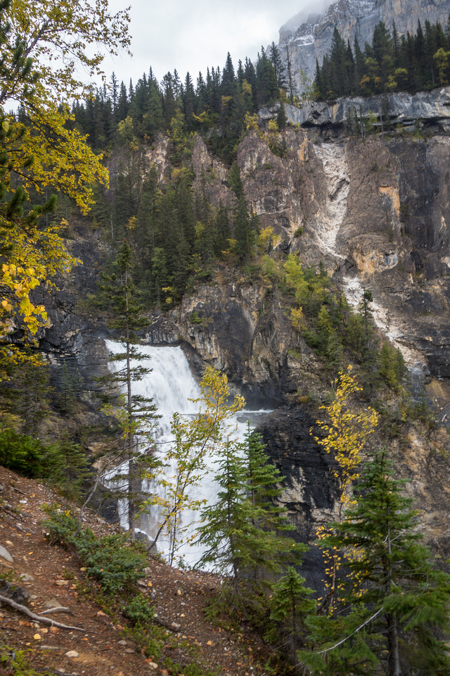 The top of White Falls from the trail.