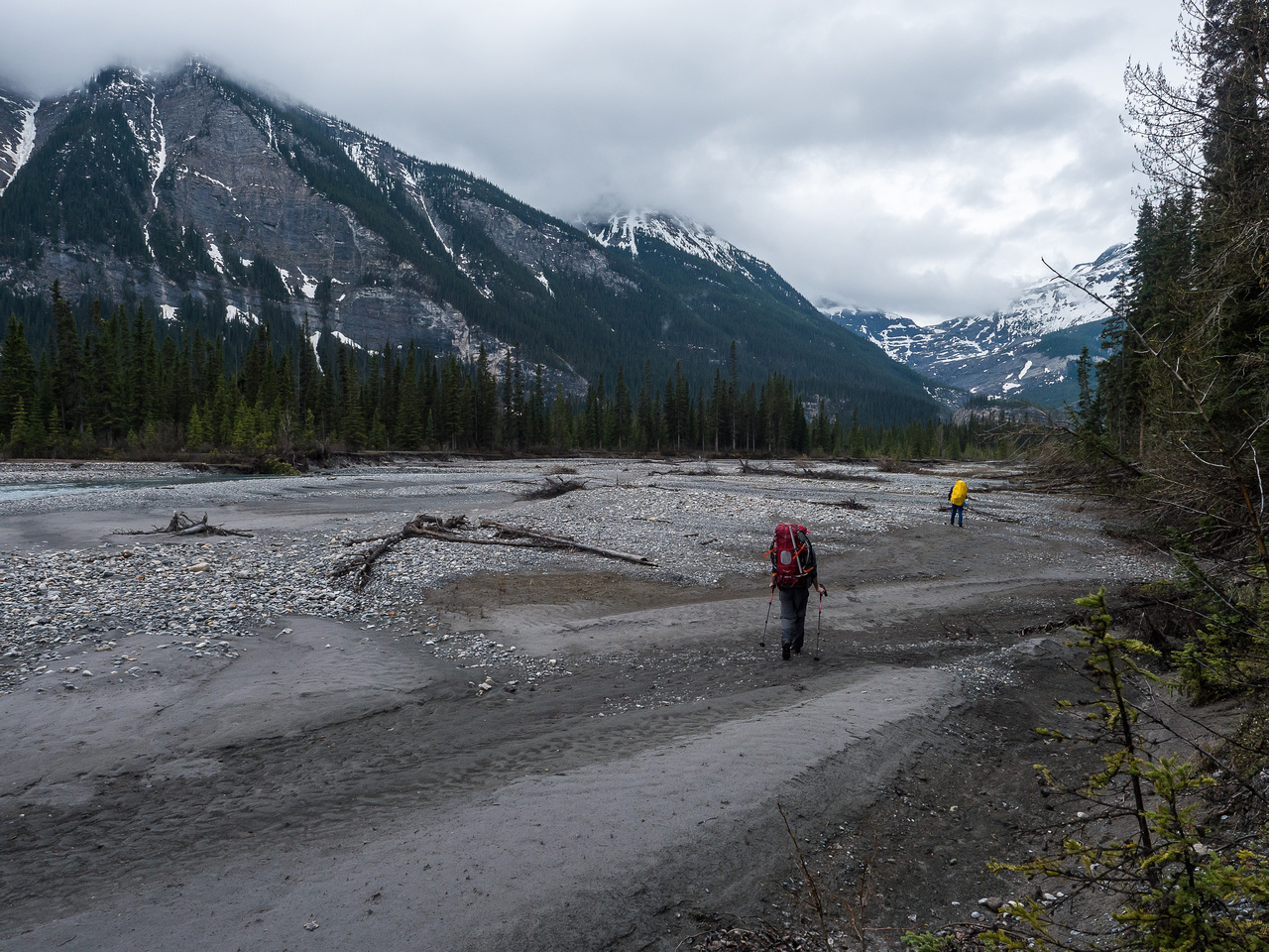 There were a few recently washed out sections of trail where we simply walked on the dry river flats rather than deal with heinous bushwhacking.