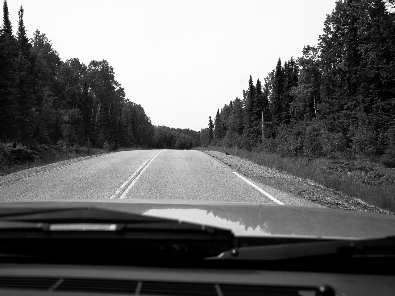 A long drive up to Red Lake from Vermillion Bay.