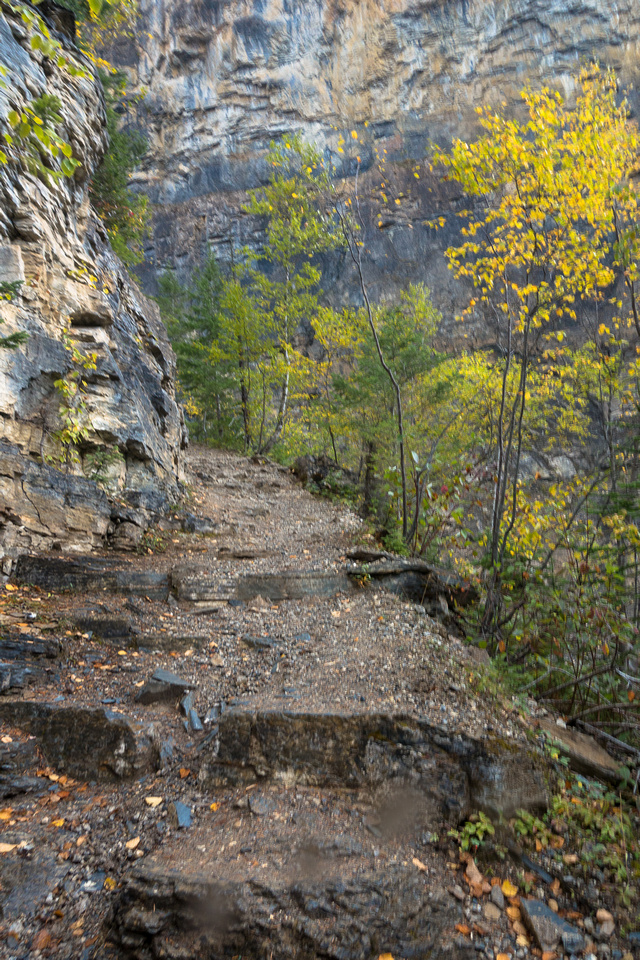An excellent trail leads up this steep section.
