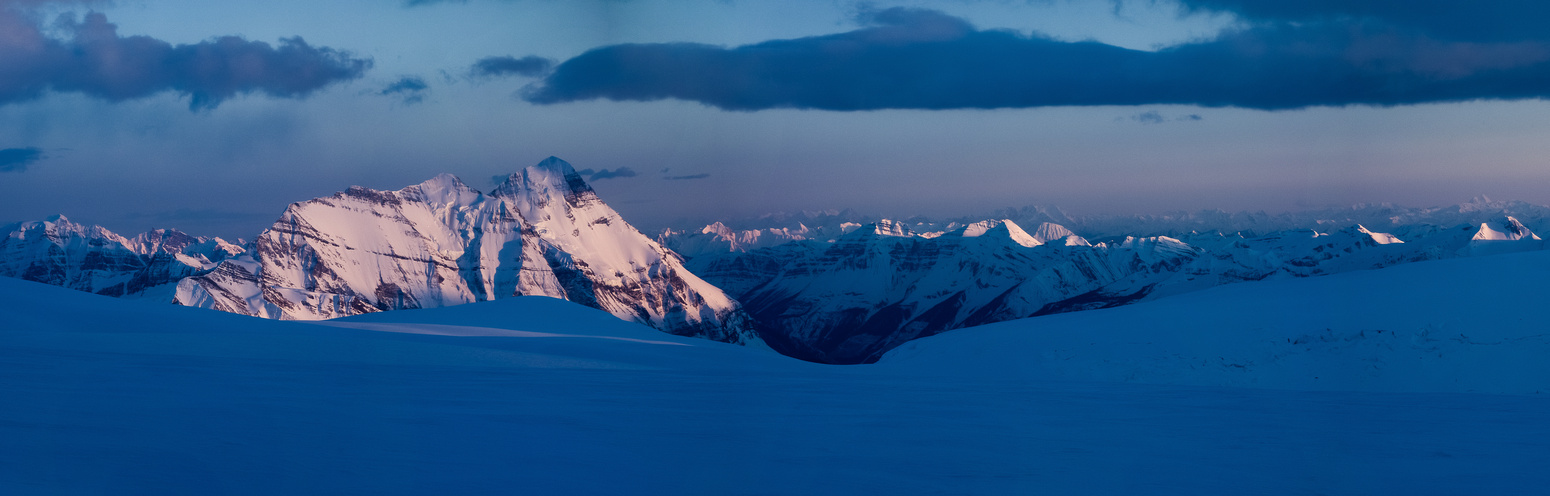 Sunset on the Columbia Icefields.