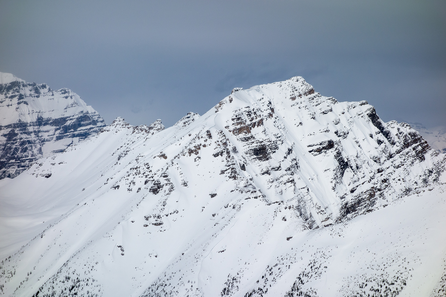Mount Bell rises above Boom Lake to the north.