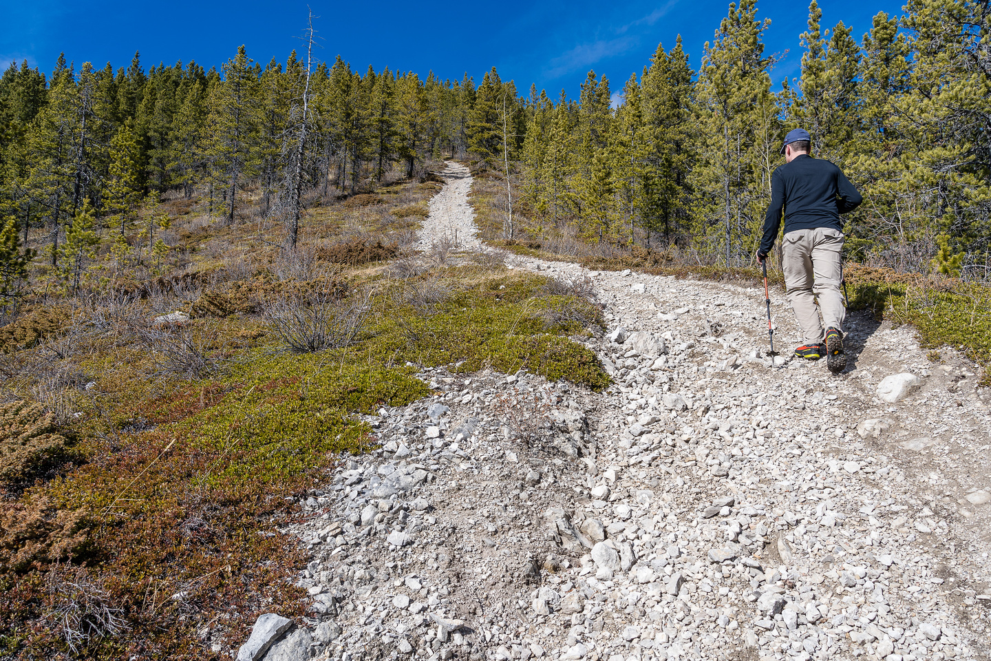 The steep OHV track on the south slopes of Marble.