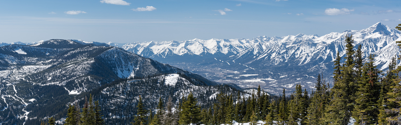 Views south and over Fernie at right.