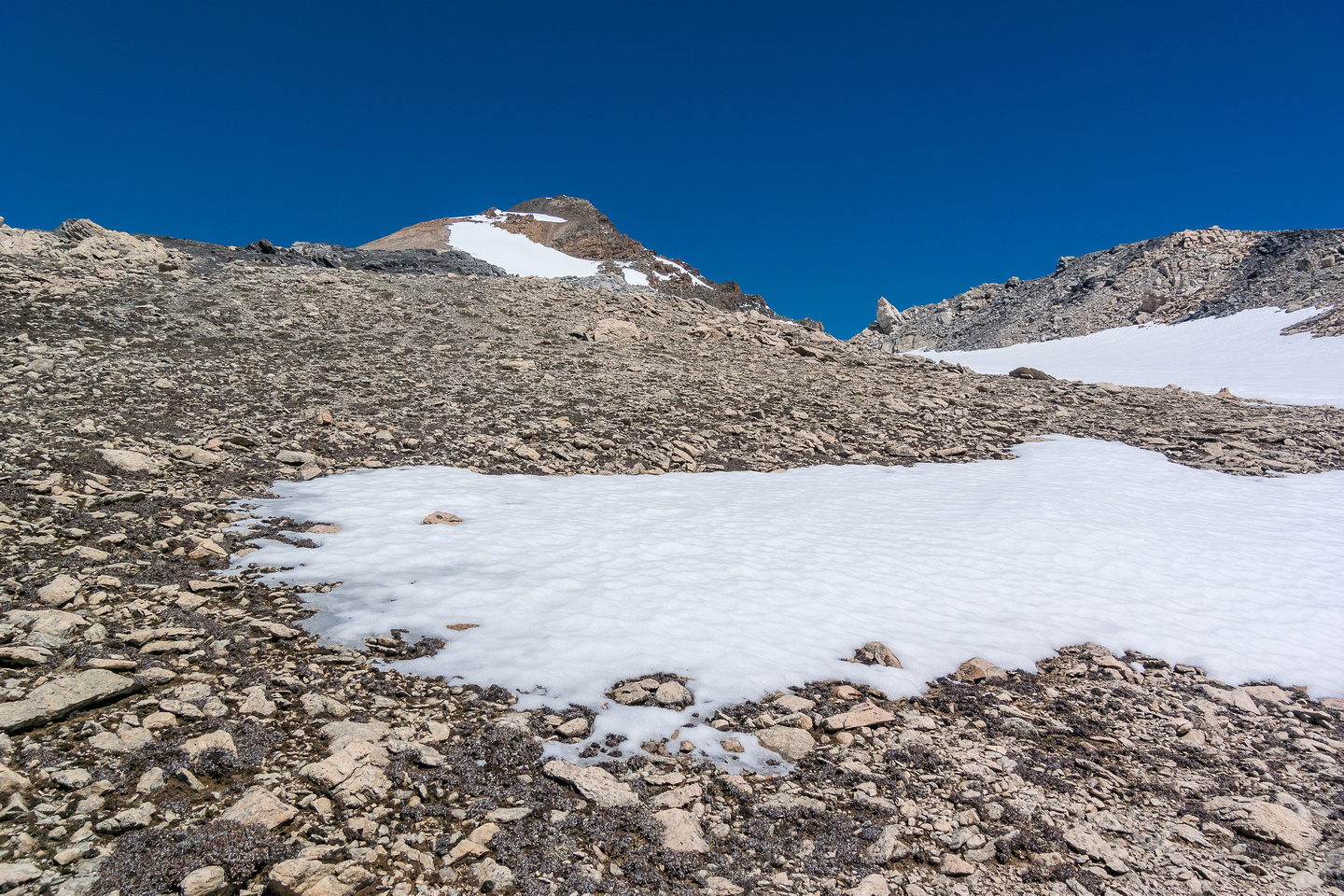 Scree slopes to the summit.