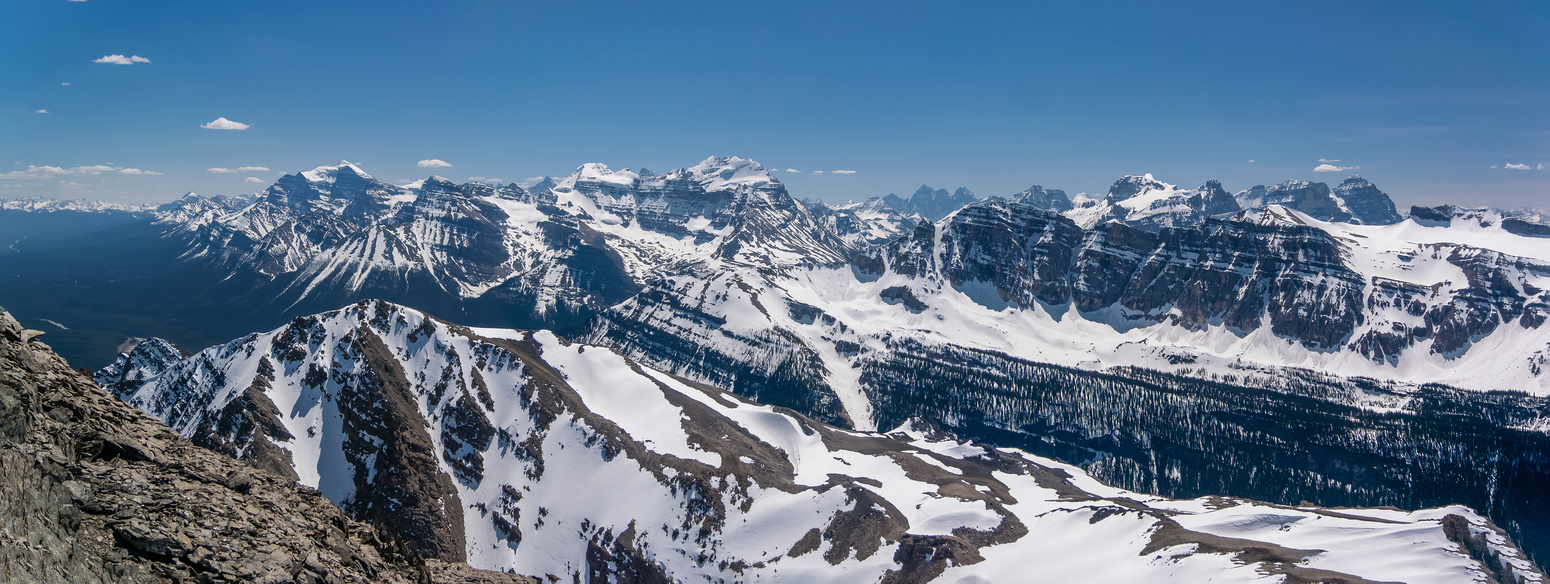 Incredible pano over Mount Bosworth.