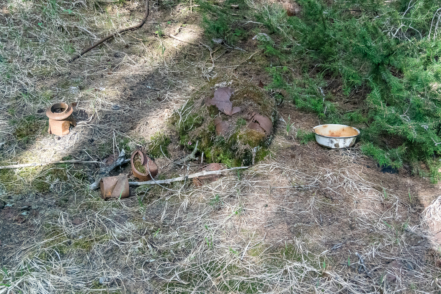 """Lots of detritus left over from the """"good ol'"""" mining / exploration days in the area."""