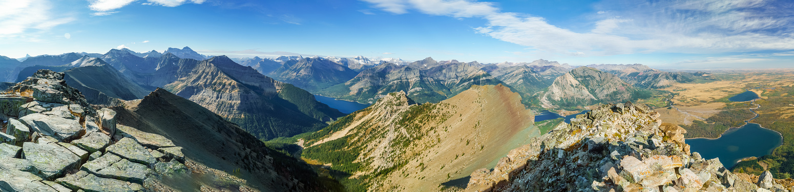Summit view from Chief (L) to Cleveland, Boswell, Olsen, Campbell, Richards, Custer, Alderson.