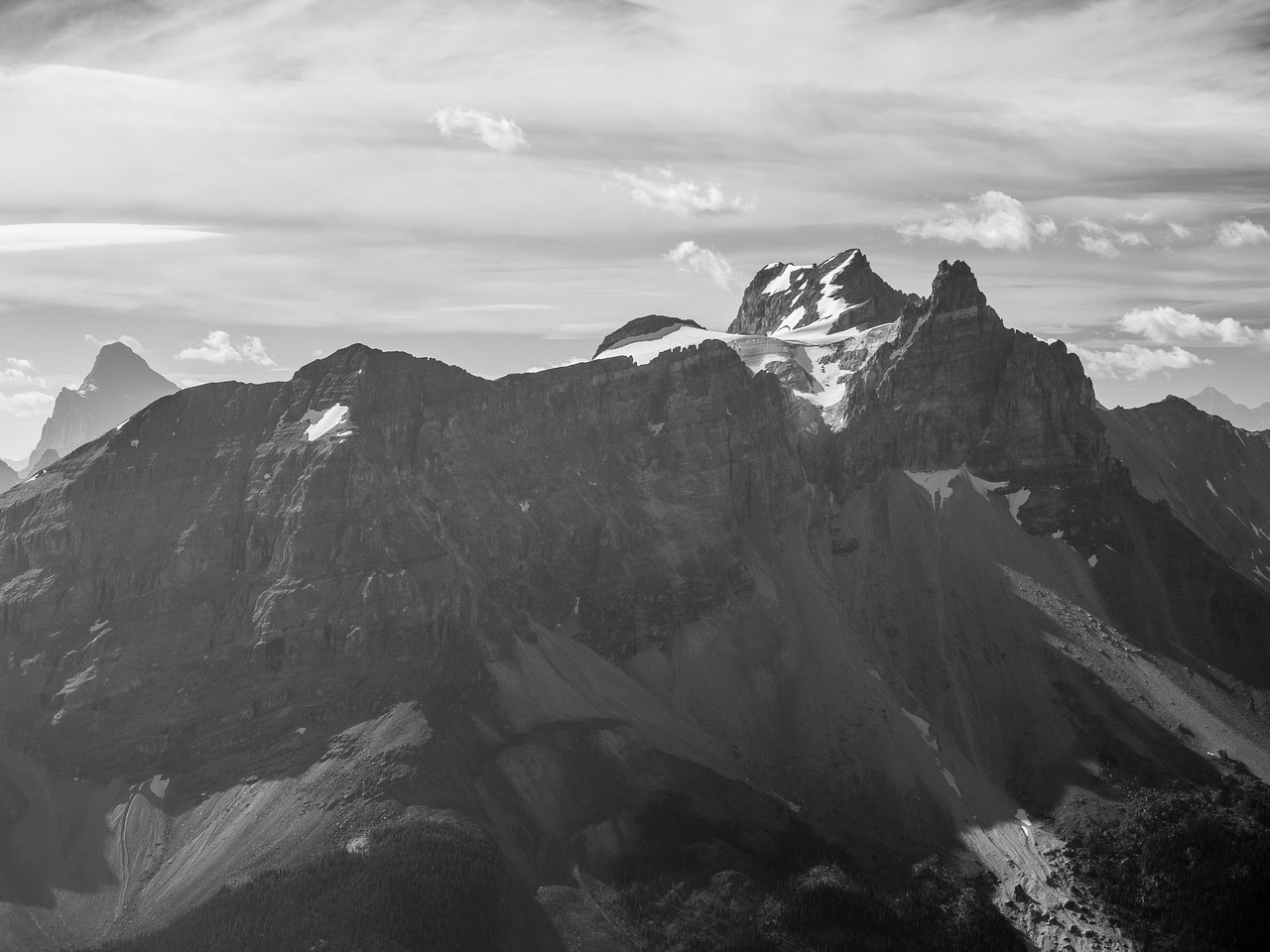 Cathedral Mountain / Crags is an impressive and beautiful Yoho Peak.