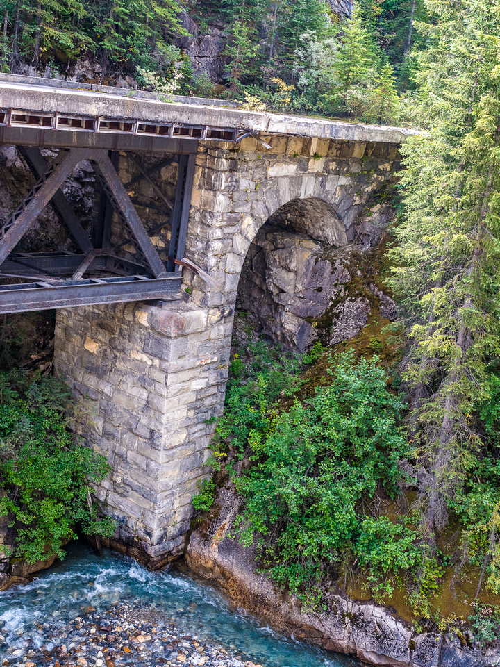 I wonder if people will still be able to photograph the old bridge over the Kicking Horse River once the TCH construction is complete?