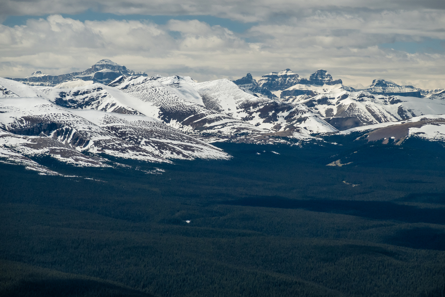 Cline, Resolute and the Whitegoat Peaks (R).