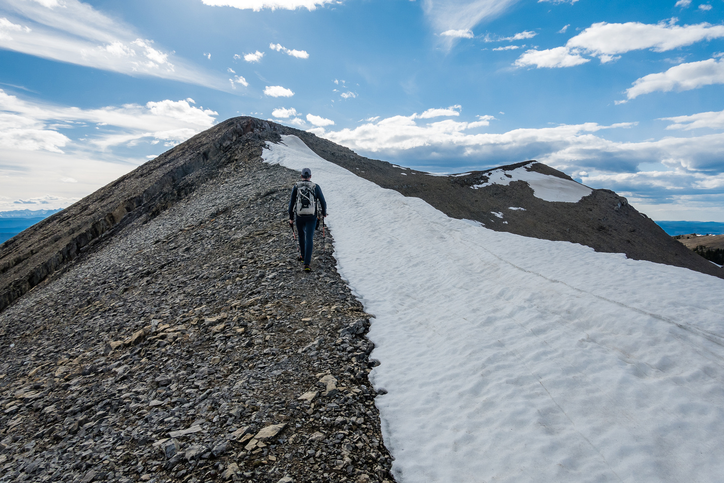 Hiking to the NW summit.