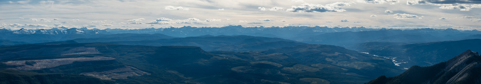 Huge view over the foothills to the eastern Rockies.