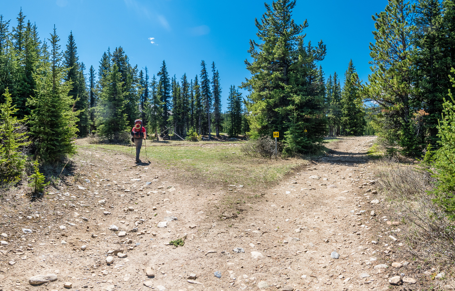 At the Onion Lake campsite.