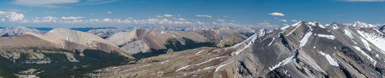 Hummingbird Peak at left with Torpor, Canary and Whelk at right.