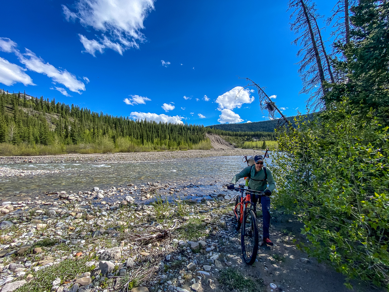 Finished the bike ride after crossing Hummingbird Creek.