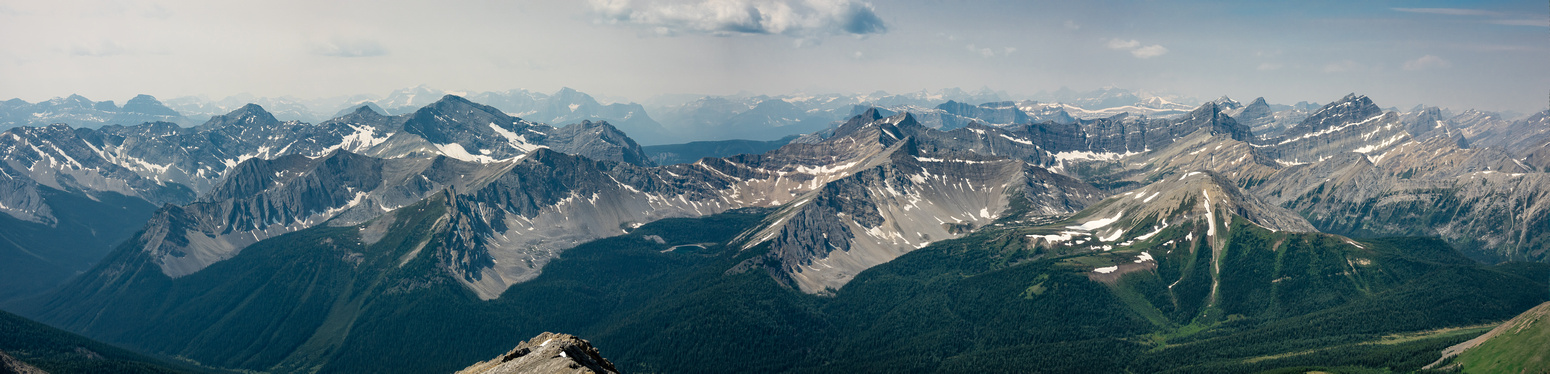 Ishbel, Mystic, Mystic Lake and Noetic Peak (R) lie to the west of Forty Mile Creek.