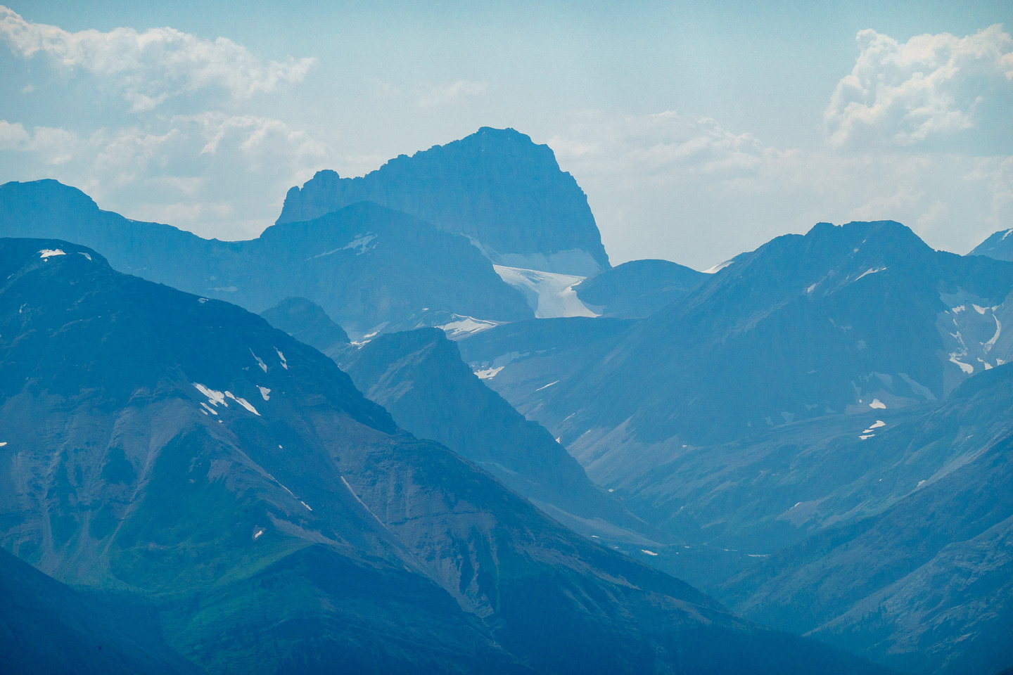 Cataract Peak is a distant giant.