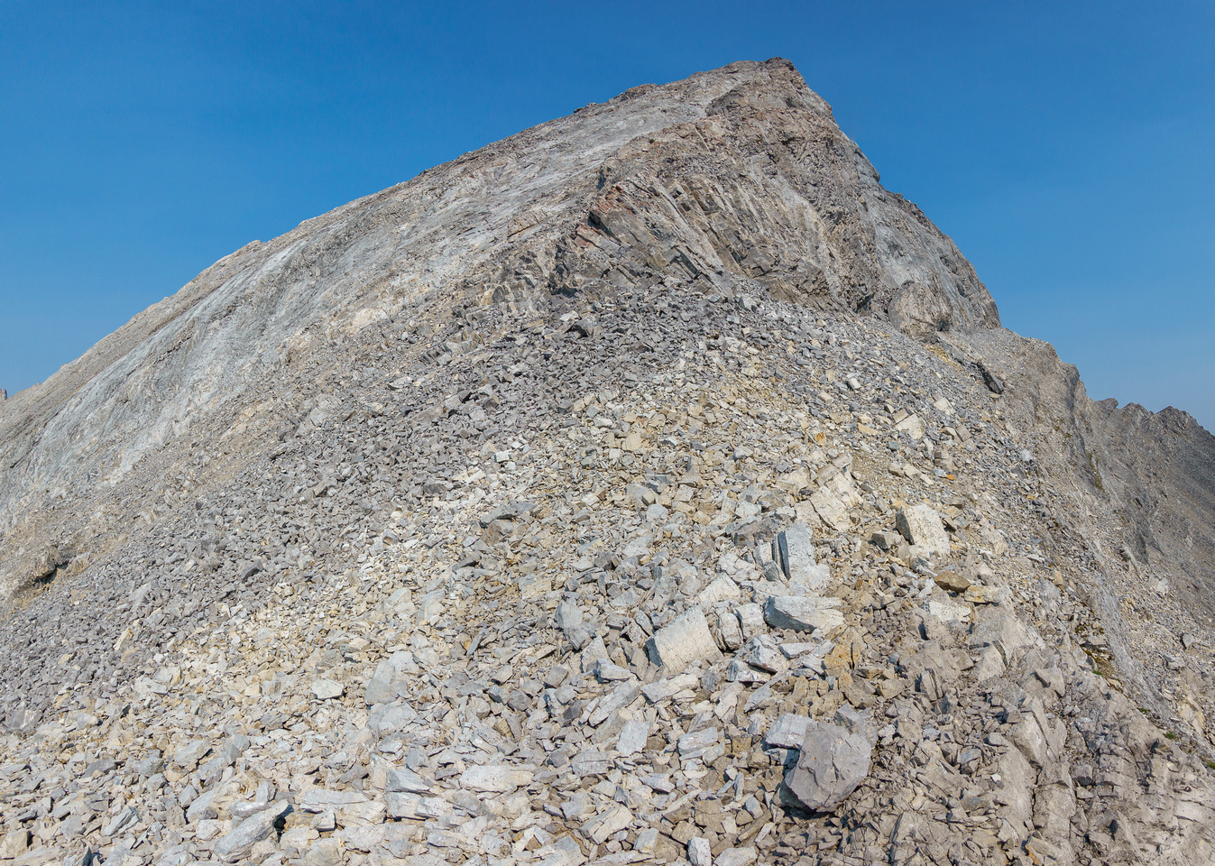 The steep east face of Mount Oliver is moderate scrambling.