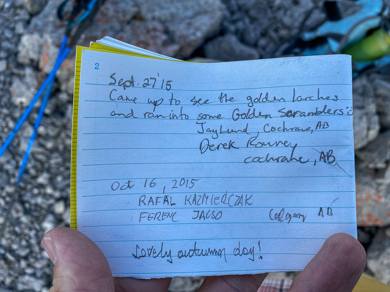 Summit register is pretty sparse for an easy peak.