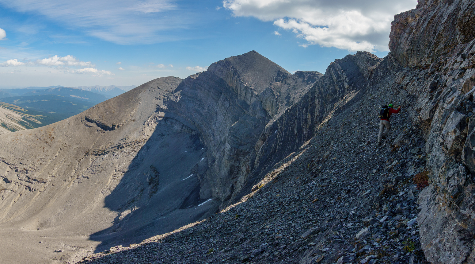 We didn't follow the obvious scree bench to the end, choosing to exit a bit earlier which worked.