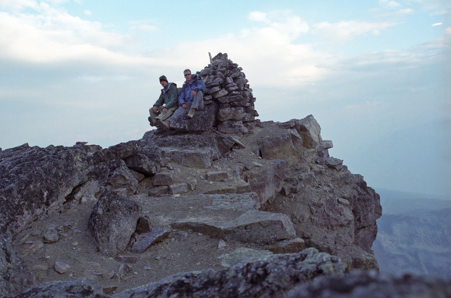 Vern and Jon at the summit of Mount Tekarra.
