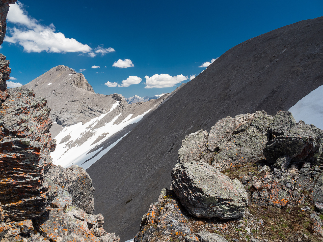 Mount Turner from just above the crux.
