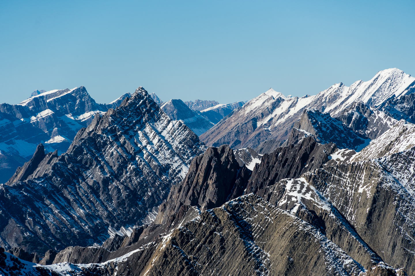 Mount Ishbel at foreground left with Pulsatilla at distant left. Noetic rising at right.