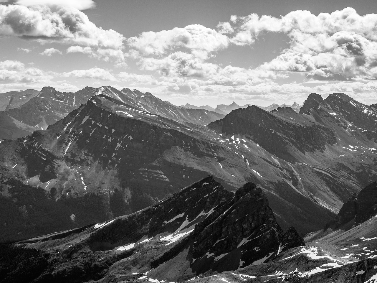 Marmot Mountain is the small one in the foreground. Bobac at distant right.