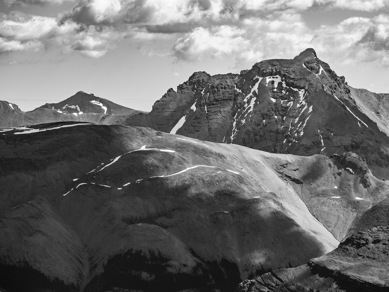 """Abstruse (""""Perren"""") Peak is 3267m high and located north of Recondite."""