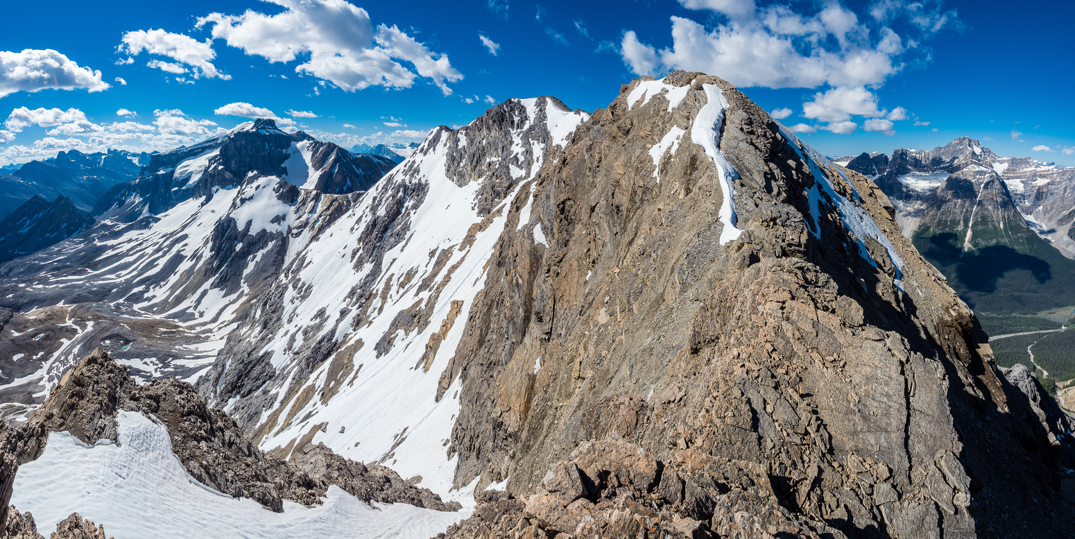 Thankfully the ridge to the 2nd false summit is less intense than it appears. There is some exposure in places.