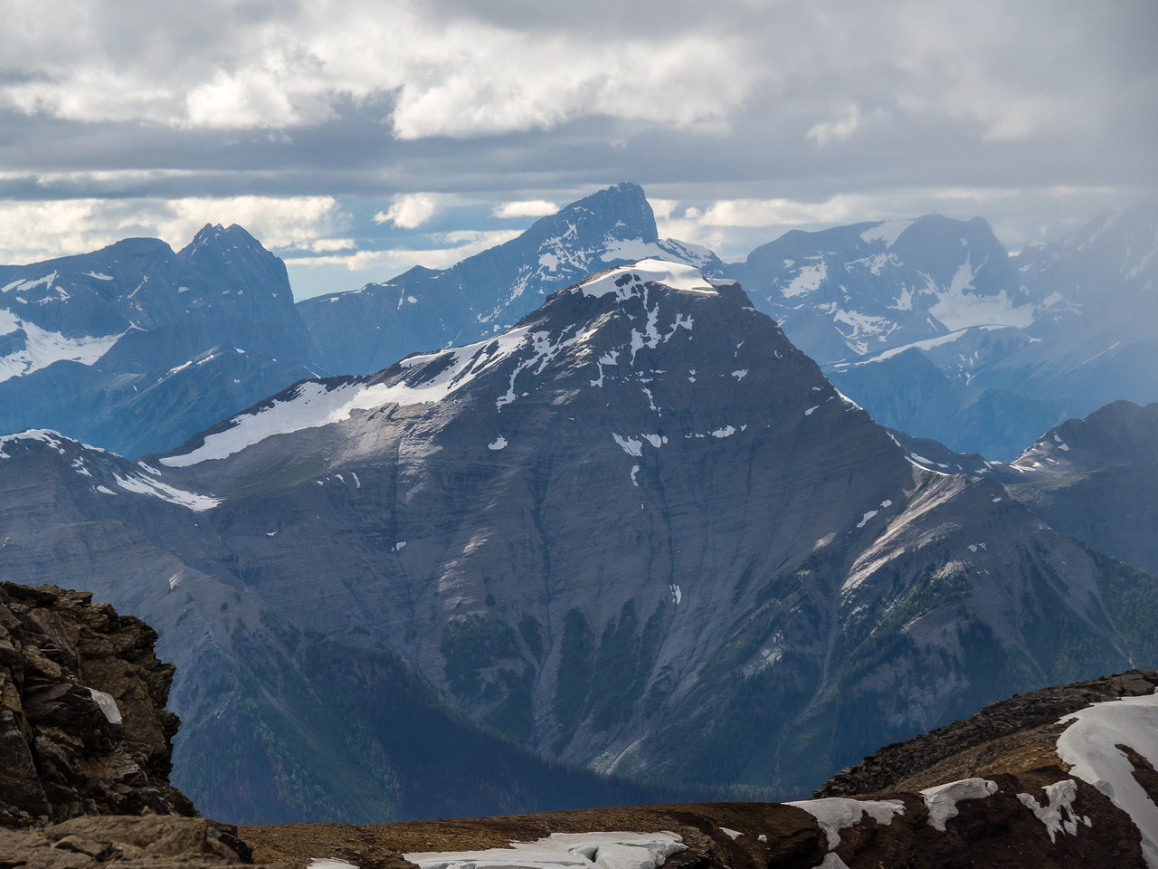 Mount Shanks with Floe Peak in the distance.