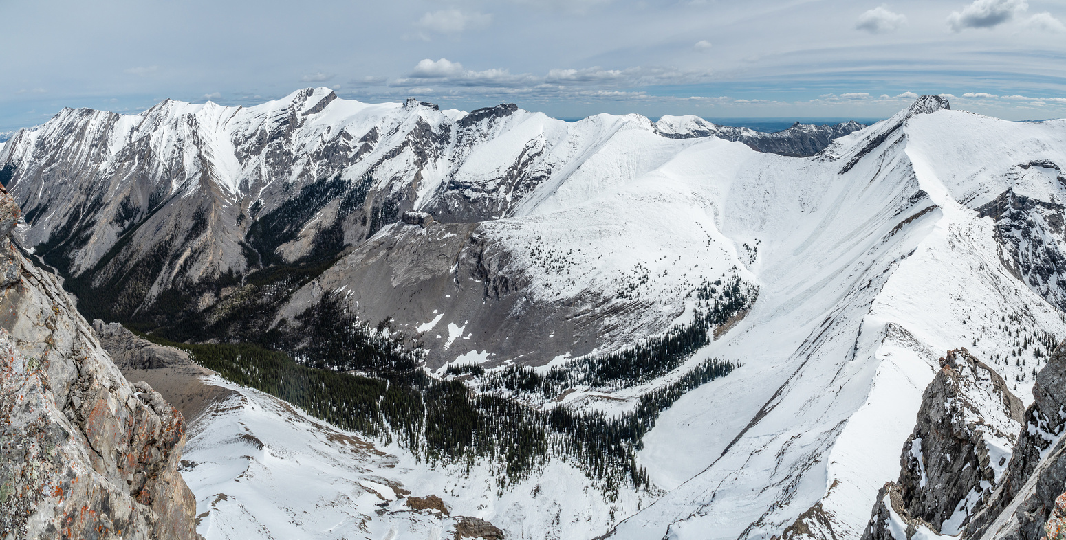 Mount Townsend at right, Stenton at left.