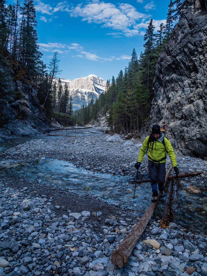 For the most part Cougar Creek is open and easy walking. Plenty of running water on route too!