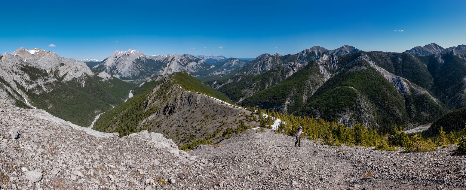 Looking back as we approach another high point. Porcupine Ridge at right.