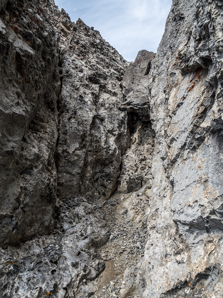 The crux from below.